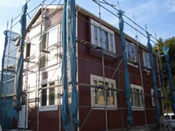 サイディング外壁塗装、コロニアル塗装