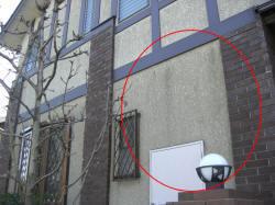 カビ混じりの外壁のよごれ