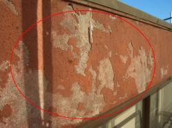 外壁塗膜のはがれ2