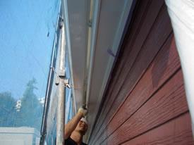 横樋の裏もきっちり塗装