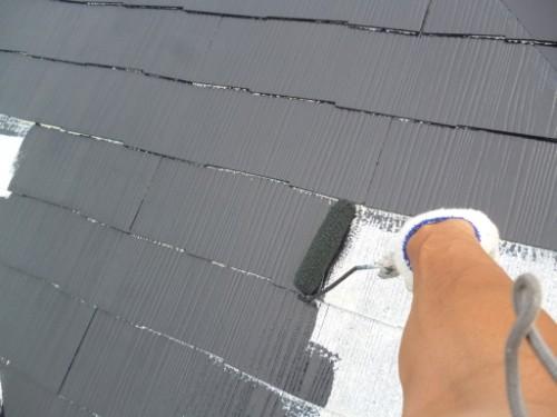 屋根の遮熱中塗り