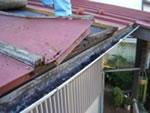 トタン屋根が沿っている