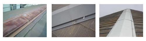 屋根の鉄部の劣化